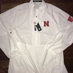 Men's Large Adidas Nebraska Cornhuskers Jacket NWT